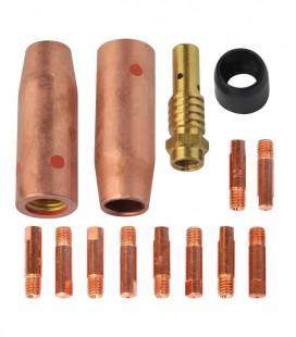 Kit da Tocha MIG-MAG TME105 Bico 0,90mm Completo com 14 Peças