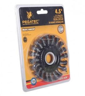 """Escova Rotativa Aço Trançado 115x13x22,23mm (4,5""""x1/2""""x7/8"""")"""