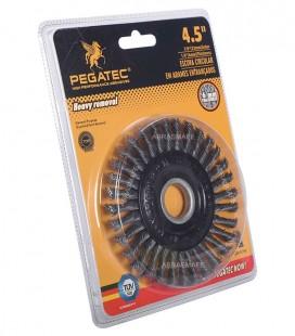 """Escova Rotativa Aço Trançado 115x6x22,23mm (4,5""""x1/4""""x7/8"""") Pegatec"""