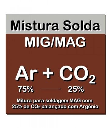Mistura Solda MIG/MAG C-25