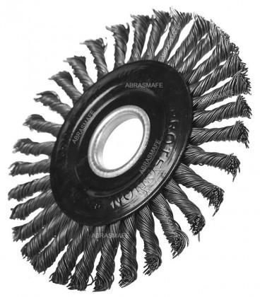 """Escova Aço Rotativa Trançada 115mm X 6mm X 22,23mm (4,5""""x1/4""""x7/8"""") Pegatec"""
