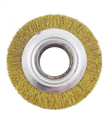 """Escova de Aço Circular Ondula Latonada 6"""" x 3/4"""" x 5/8"""""""