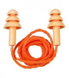 Protetor Auricular em Silicone Bicolor com Cordão de Algodão 15dB