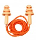 Protetor Auricular de Silicone Tipo Plug Bicolor 15 dB com Cordão de Algodão