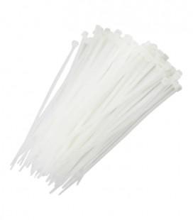 Abraçadeira de Nylon 3.6 x 200mm Branco com 100 Unidades
