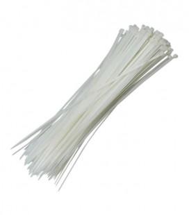 Abraçadeira de Nylon 4.8 x 200mm Branco com 100 Unidades