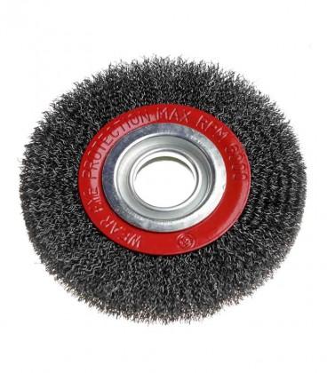 """Escova de Aço Circular Ondula 6"""" x 3/4"""" com Bucha de Redução"""