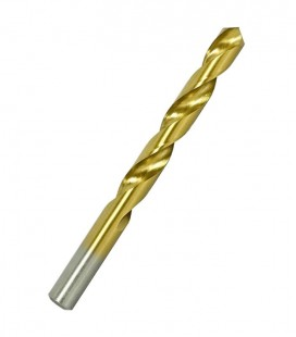 Broca de Aço Rápido com Acabamento em Titânio 6,5mm HSS-TiN